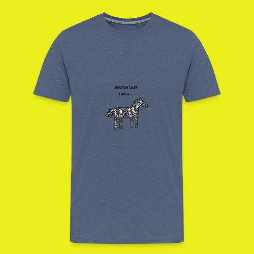 Wild Horse - Black / White - Watch Out - Kids' Premium T-Shirt