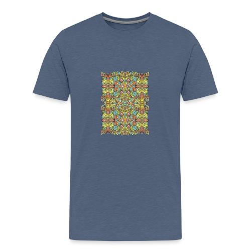 Odd creatures multiplying in a symmetrical pattern - Kids' Premium T-Shirt
