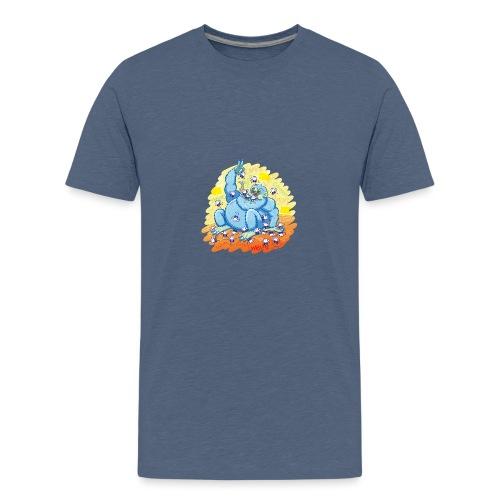 Voracious social networks' monster gobbling likes - Kids' Premium T-Shirt