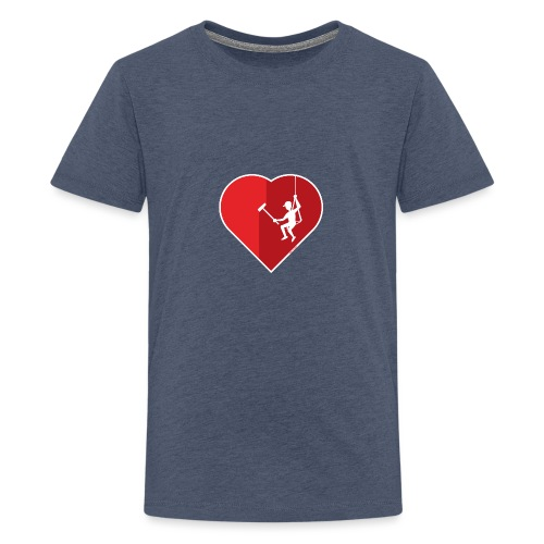 Heart cleaning by a professional window cleaner - Kids' Premium T-Shirt