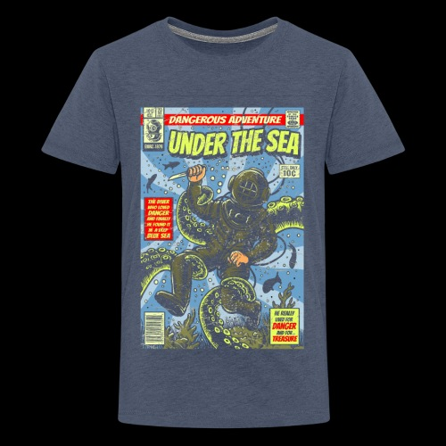 Under the Sea Comic Adventure - Kids' Premium T-Shirt