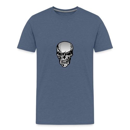 Chrome Skull Illustration - Kids' Premium T-Shirt