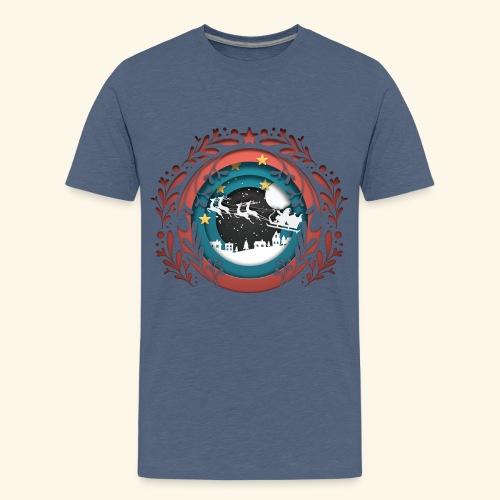 Christmas paper cut - Kids' Premium T-Shirt