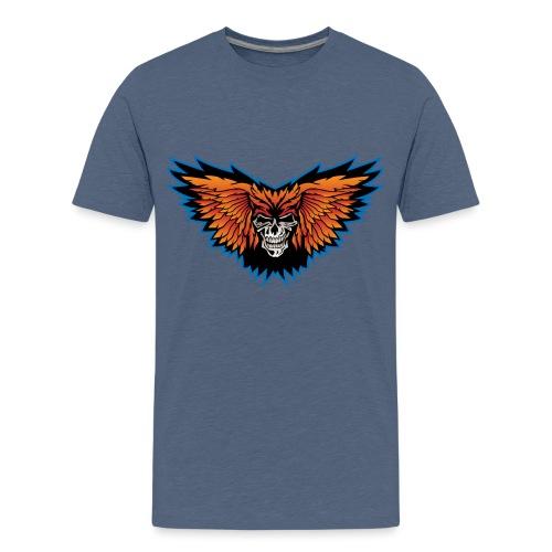 Winged Skull Illustration - Kids' Premium T-Shirt