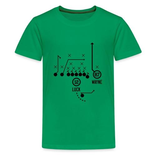 X O Andrew Luck to Reggie Wayne - Kids' Premium T-Shirt