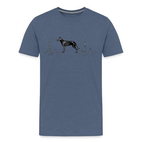 ECG with Dog - Kids' Premium T-Shirt