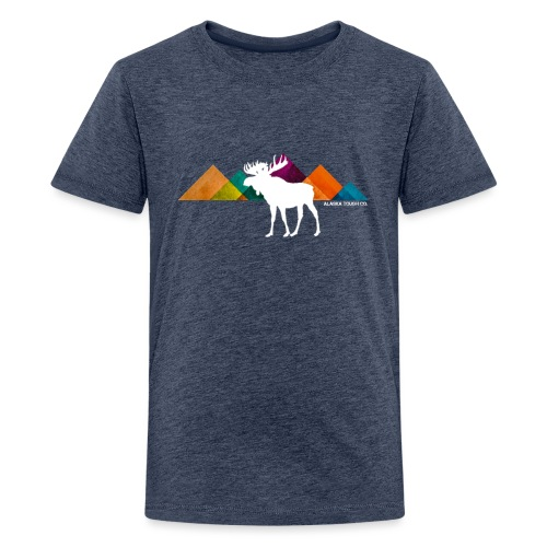 Moose and Mountains Design - Kids' Premium T-Shirt