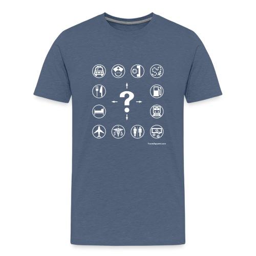 10x10-front-TRAVEL-black - Kids' Premium T-Shirt