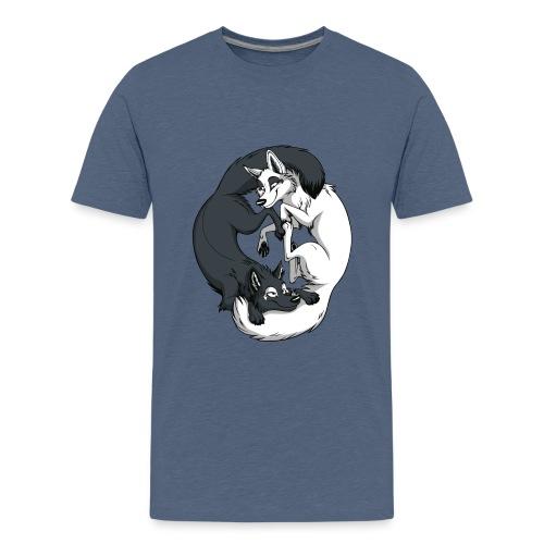 Yin Yang Foxes - Kids' Premium T-Shirt