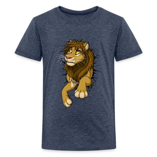 STUCK Lion (black cracks) - Kids' Premium T-Shirt