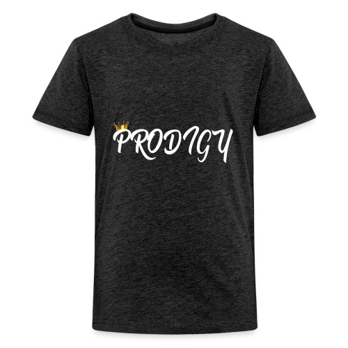 Prodigy White w/Gold Crown - Kids' Premium T-Shirt