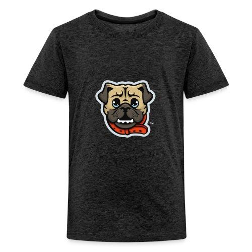 Pug_Mascot_WhiteBG - Kids' Premium T-Shirt