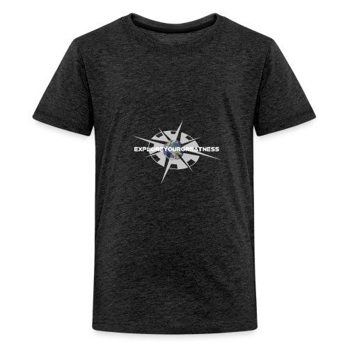 ExploreYourGreatness white - Kids' Premium T-Shirt