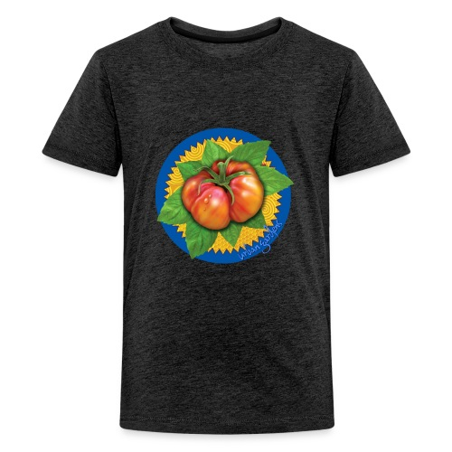 Heirloom Tomato Art, by Urban Gardens - Kids' Premium T-Shirt