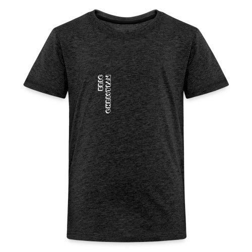 Eric Christian Side Logo White - Kids' Premium T-Shirt