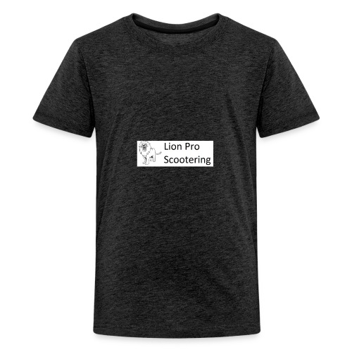 Lion Scootering Logo - Kids' Premium T-Shirt