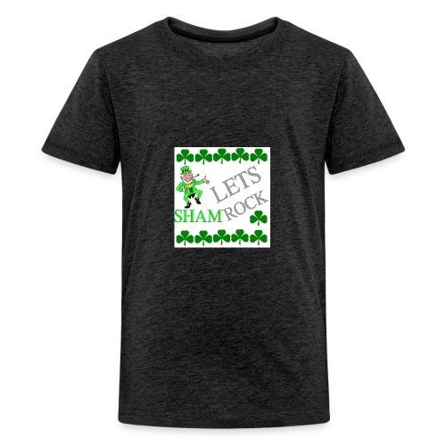 LEPRECHAUN LETS rock - Kids' Premium T-Shirt