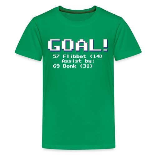 Buzz Flibbet Goal Assisted by Mark Donk - Kids' Premium T-Shirt