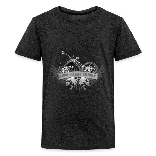 Hardcore. Old School. Deal With It. - Kids' Premium T-Shirt