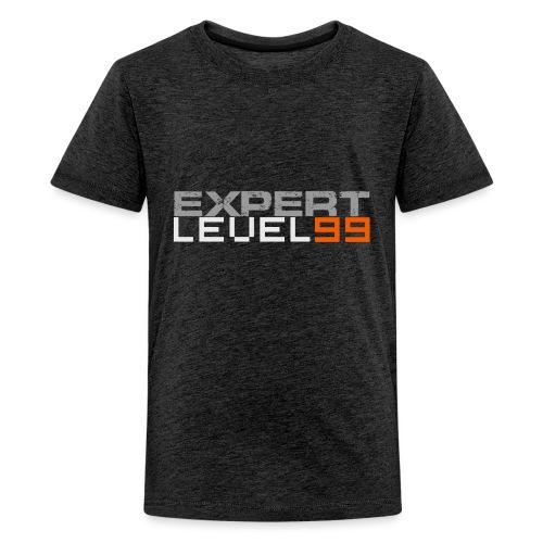Expert Level 99 [Light on Dark] - Kids' Premium T-Shirt