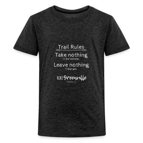 Trail Rules- White - Kids' Premium T-Shirt