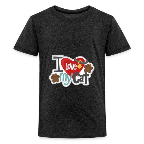 i love my cat - Kids' Premium T-Shirt