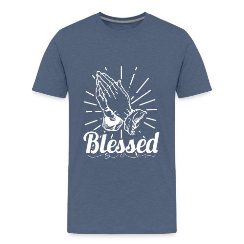 Blessed (White Letters) - Kids' Premium T-Shirt