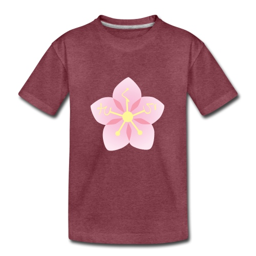 Sakura / Cherry Blossom Japanese Writing Hiragana - Kids' Premium T-Shirt