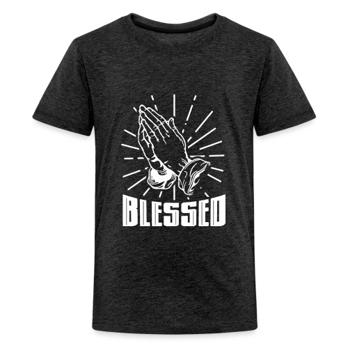 Blessed - Alt. Design (White Letters) - Kids' Premium T-Shirt