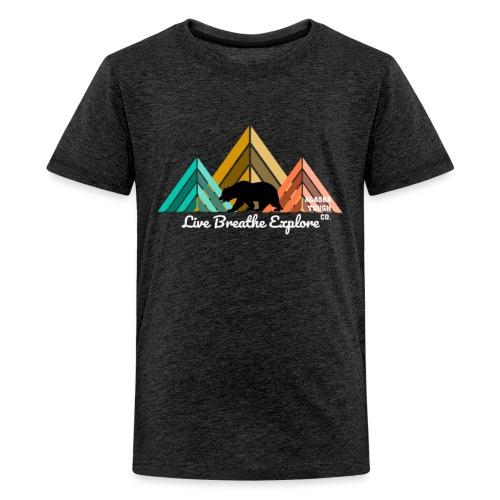 Live Breathe Explore Bear - Kids' Premium T-Shirt