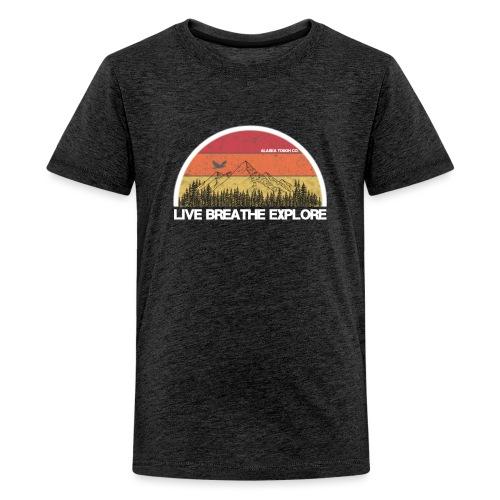 Live Breathe Explore Mountain - Kids' Premium T-Shirt