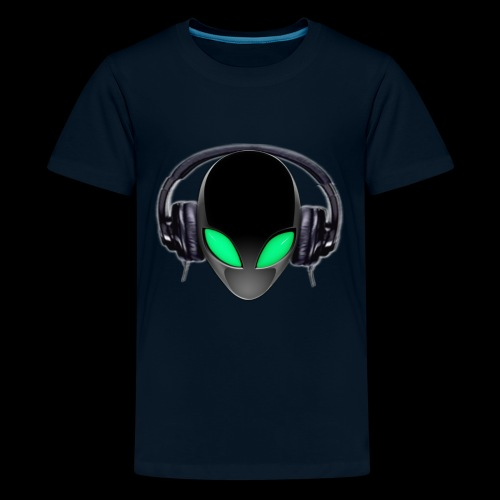 Alien Music Lover DJ (Simplified Fit All Design) - Kids' Premium T-Shirt