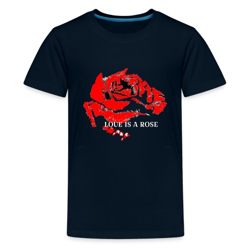 Love is a rose - Kids' Premium T-Shirt