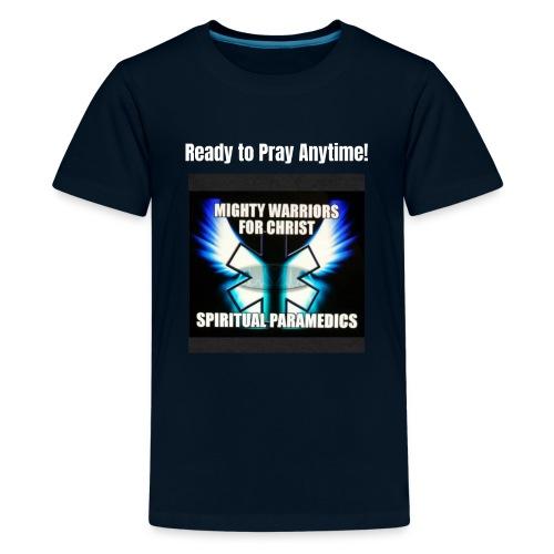 MightyWarrior PrayAnytime White - Kids' Premium T-Shirt