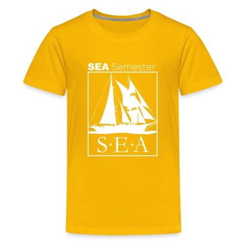 SEA_logo_WHITE_eps - Kids' Premium T-Shirt