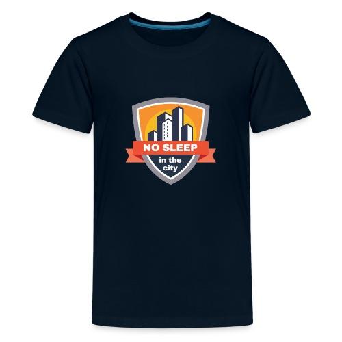 No sleep in the city   Colorful Badge Design - Kids' Premium T-Shirt