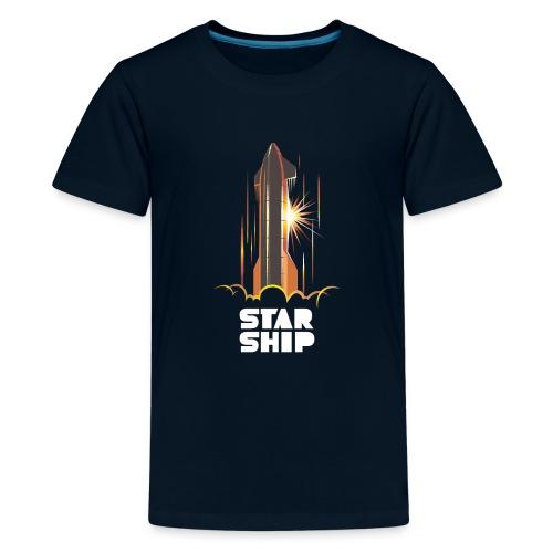 Star Ship Mars - Dark - Kids' Premium T-Shirt