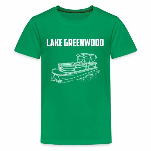 Lake Greenwood South Carolina Pontoon Boat Design - Kids' Premium T-Shirt