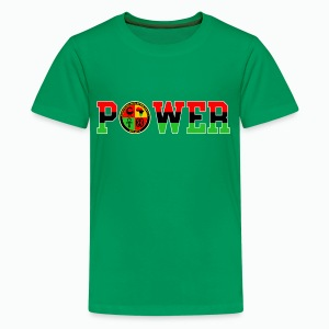 Afrikan Power with Logo and White trim - Kids' Premium T-Shirt