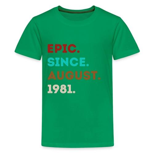 Epic Sience August 1981 - eighties style retro - Kids' Premium T-Shirt