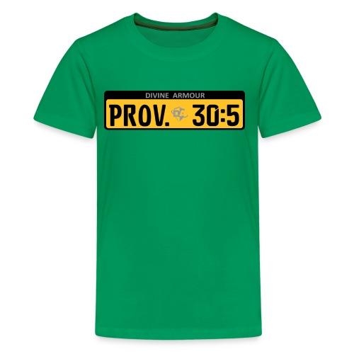 Divine Armour - Prov. 30:5 Under the Shield of God - Kids' Premium T-Shirt