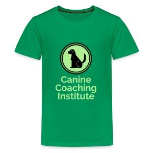 Canine Coaching Institute Logo with Light Green - Kids' Premium T-Shirt
