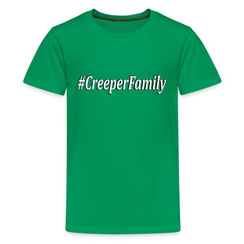 #CreeperFamily logo - Kids' Premium T-Shirt