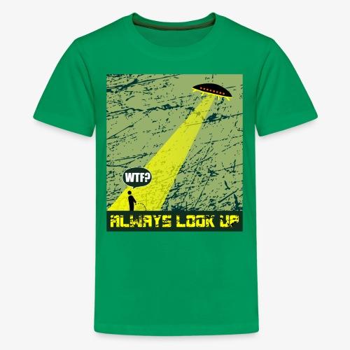 Ufo Abduction WTF T-Shirt - Kids' Premium T-Shirt