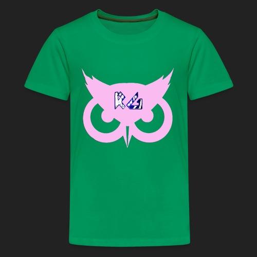 RG Pink Owl Logo - Kids' Premium T-Shirt