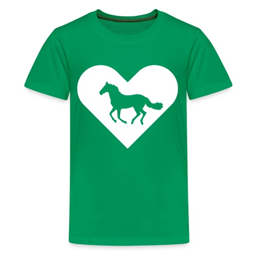 Heart-Horse (white) - Kids' Premium T-Shirt