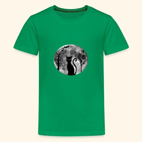moon cat - Kids' Premium T-Shirt