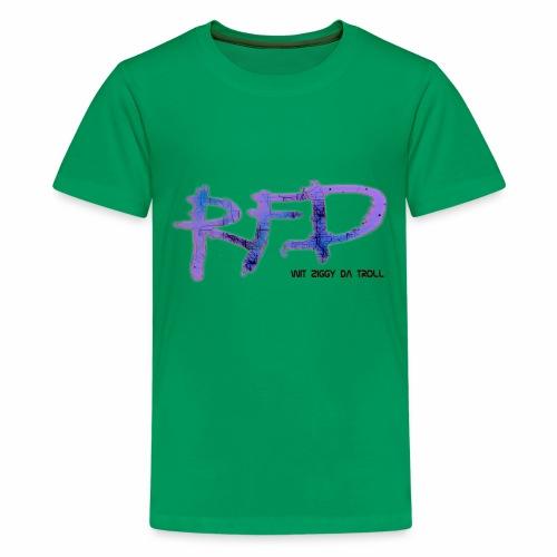 Radio Free Detroit Matrix Graffiti - Kids' Premium T-Shirt