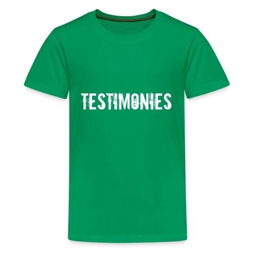 Testimonies Shirt - Kids' Premium T-Shirt