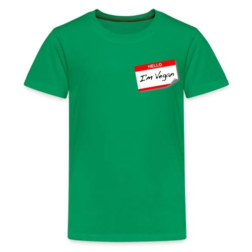 Hello I'm Vegan - Kids' Premium T-Shirt